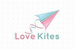 Love Kites - $225 http://www.stronglogos.com/product/love-kites #logo #design #sale #toys #shop #daycare #pregnancy #baby #boutique #blog