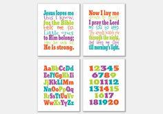 Set of 4 Kids printables. Jesus loves me. Now I by PrintsofLife