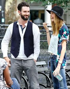 Wedding bells will soon be ringing for the happy couple -- Adam Levine and Behati Prinsloo.