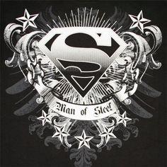 Man of Steel Superman Logo Logo Superman, Superman Tattoos, Superman Symbol, Batman Vs Superman, Superman Stuff, Black Superman, Marvel Tattoos, Superman Man Of Steel, The Avengers