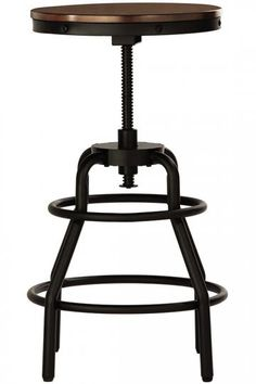 Industrial Mansard Stool -  Discover the Sophistication of an Industrial Stool   Item # 05594