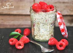 Chia Puding, Health Eating, Healthy Sweets, Soul Food, Diet Recipes, Raspberry, Paleo, Oatmeal, Vitamins