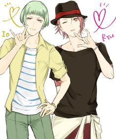 Io and Ryuu - Binan Koukou Chikyuu Bouei-bu LOVE! by 愛のふぁぼりすと on pixiv