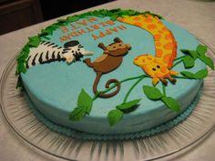 Safari Animal Cakes   Jungle Animals Birthday Cake — 2010 Animal Cakes Contest