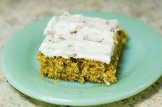 Carrot cake: I use whole wheat pastry flour and have to adjust the bake time in my pyrex dish... This is an absolutely delicious recipe and my oldest son's favorite! Yum!