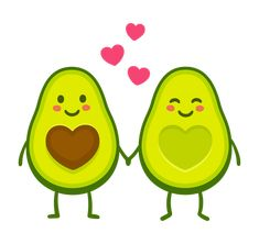 Cute cartoon avocado couple holding hands, Valentine's day greeting… Abacate love couple illustration abacate love couple e mais royalty-free royalty-free Avocado Cartoon, Bff, Art Kawaii, Cute Avocado, Avocado Art, Motif Art Deco, Cute Disney Drawings, Valentines Day Greetings, Love Stickers