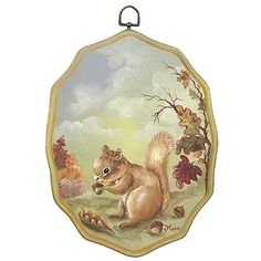 Create this project with Americana® Acrylics — Recreate the bushy-tailed squirrel on a plaque or other piece with this decorative painting technique.