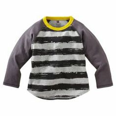 Brushstroke Stripe Raglan Tee | Tea Collection