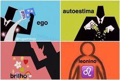Ilustrações divertidas mostram como cada signo foi 'criado'