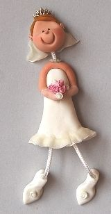 For a hard to buy for bride ... how cute is this magnet? Mara Luiza creations