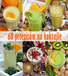 68 przepisów na koktajle in 2020 Lunch Smoothie, Smoothie Prep, Smoothie Detox, Smoothie Recipes, Diet Recipes, Healthy Recipes, Healthy Food, Apple Smoothies, Healthy Smoothies