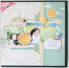 S-photo time: American Crafts: 2 pages layout
