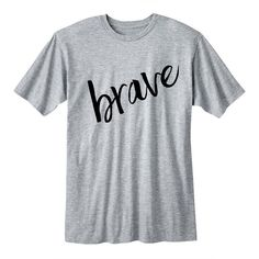 Brave Tshirt Teen Girl Gifts College Girl Gifts Band Shirt 5 Seconds... ($16) ❤ liked on Polyvore featuring tops, t-shirts, black, women's clothing, long length t shirts, collar t shirt, long sleeve tops, faded t shirts and slim t shirts