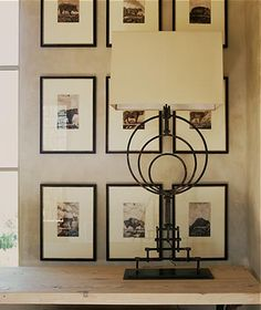 love the cool lamp circles in front of the grid of pics