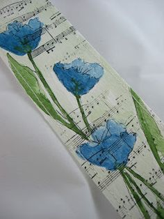 Swoon. I love the flowers stamped on the music.