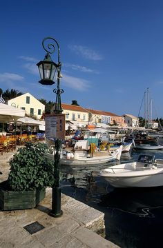 Fiskardo harbour, Kefalonia, Greece.  Go to www.YourTravelVideos.com or just click on photo for home videos and much more on sites like this.