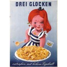 Donald Brun (1909-1999): Drei Glocken noodles, 1954