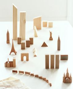 Wooden Cities (Paris, London): This would be an fun way to teach children about different cities at a very young age. They won't even realize that they're learning.