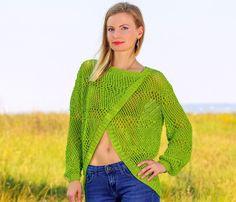 SUMMER 2016 Cotton top handmade boutique yellow beachwear sweater ...