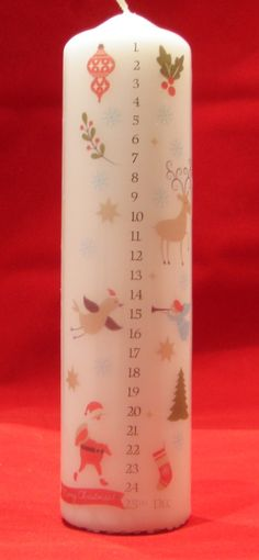 Advent Christmas Candles - Choice of three designs by TheCandleandCardCo on Etsy