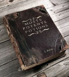 Make a Moste Potente Potions book for a display. Link is just to a photo--not DIY instructions.