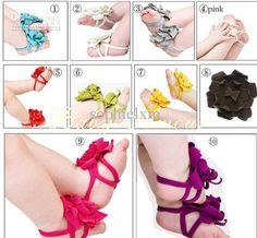 Top Baby Shoes Flower Design Baby Prewalker Shoes Infant Shoes Cotton Barefeet Sandals 20pair/lot