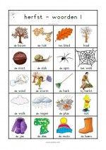 Woordenblad Herfst 1 Learn Dutch, Kids Education, Seasons, Teaching, School, Fall, Stage, Humor, Words