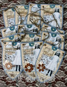Gothic Arch Pennants for Paper Whimsy Group by Sugar Lump Studios, via Flickr paperwhimsy