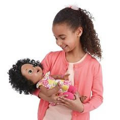 Baby Alive Interactive Talking Baby Doll Super Snacks African American Only 5 In Stock Order Today! Product Description: Little girls can have the love and fun of real babies with this Snackin' Sara d