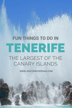 Fun things to do in Tenerife – The Largest Of The Canary Islands Spain Travel Africa Travel, Travel Europe, Croatia Travel, Italy Travel, Stuff To Do, Things To Do, Spain Travel Guide, Spain And Portugal, Portugal Travel