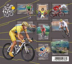 Tour De France Stamps from the French post service