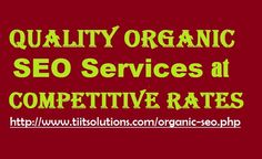 Quality Organic #SEOServices at Competitive #Rates
