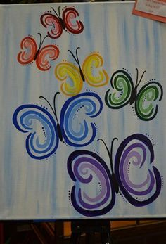 butterflies Art Crafts, Arts And Crafts, Art School, School Stuff, Rhythm Art, Amazing Pics, Paint Party, Painting Inspiration, Canvases