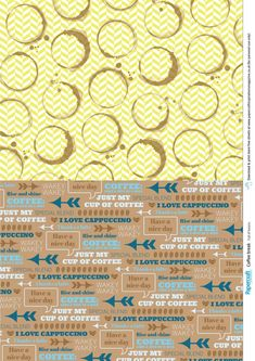 Free coffee printable paper from Papercraft Inspirations 178 - Papercraft Inspirations