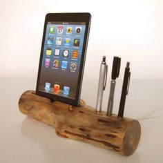 iphone stand aspen log iphone dock smartphone stand rustic wood
