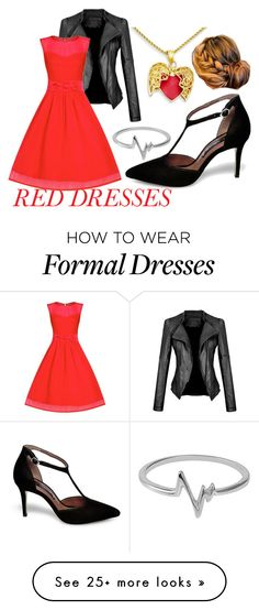 """""""Red Dress"""" by chinesedragon88 on Polyvore featuring Steve Madden, Jewel Exclusive, women's clothing, women, female, woman, misses, juniors, DateNight and reddress"""
