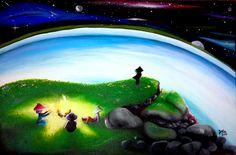 'Poeira das Estrelas' Painting 60x40cm