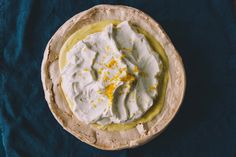 Upside-Down Lemon Meringue Pie