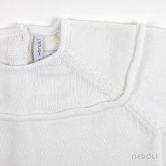 Jersey con ribete añil en el puño y la cintura para bebé de Mon Marcel. #baby #jumper #fashion #NeroliByNagore #SS14 #MonMarcel