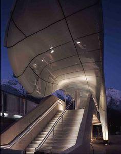 View from Schafberg Railway, Austria | Building Academy Salzburg, New Austrian Architecture, Salzburg ...