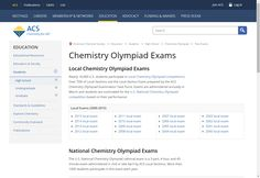 AP Chem Q's: Chemistry Olympiad Exams - American Chemical Society
