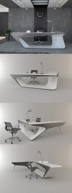 Insane Long extending desk can be applied as the pedestal or helmsman local area. The post Long extending desk can be applied as the pedestal or helmsman local area…. appeared first on Enn . Office Table Design, Office Interior Design, Office Interiors, Modern Office Table, Contemporary Office Desk, Corporate Interiors, Design Furniture, Modern Furniture, Furniture Layout