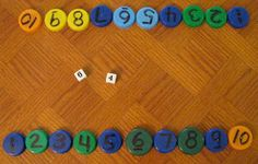 Elimination roll the dice. Choose to add, subtract, multiply divide. Remove that cap number