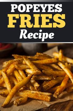 Crispy Fries Recipe, Best Fries Recipe, Popeyes Chicken, Best French Fries, Appetizers, Restaurant Recipes, Restaurants, Recipes