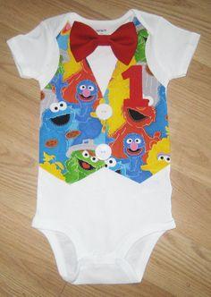 Sesame Street shirt. Sesame street onesie. Sesame street birthday shirt. Elmo birthday shirt. Cookie monster shirt. First birthday outfit.