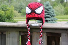 Handmade Superhero Crochet Hat by HugsKissesStitches on Etsy, $20.00