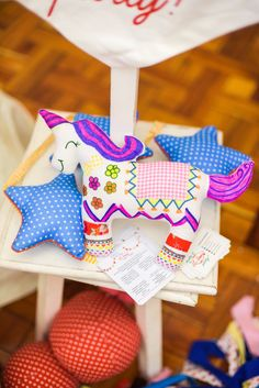 Decorated plush Derby Horse from a Horse Derby Birthday Party on Kara's Party Ideas   KarasPartyIdeas.com (21)