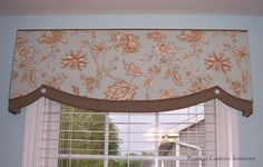banded soft cornice | love how the contrast cording accents the curved shapes on this ...