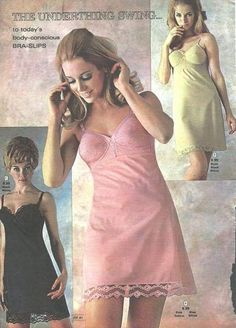 I need to go sit down somewhere quiet and regain my breathing reflex. Classic Lingerie, Retro Lingerie, Lingerie Photos, Pink Satin Dress, Vintage Outfits, Vintage Fashion, Lingerie Catalog, Vintage Underwear, Vintage Nightgown