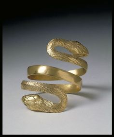 """jeannepompadour:  Roman-Egyptian snake armlet, 1-100A.D.   """